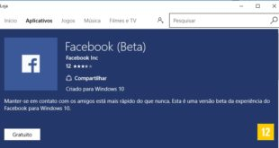 Windows Brasil - Facebook Beta atualizado na Windows Store